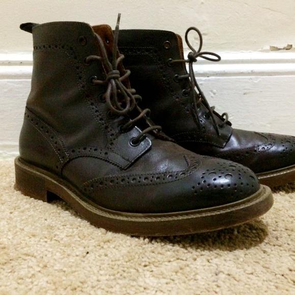 e9468380f5 Aldo Mr. B's Shoes | Aldo Mr Bs Wingtip Brogue Boots Chocolate Brown ...